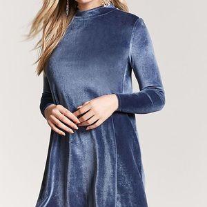NWT Mock-Neck Velvet Dress